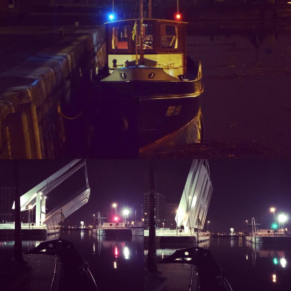 Docks by night